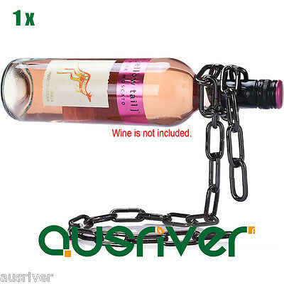 Premium Chain Wine Champagn Bottle Holder Illusion Magic Floating Home Decorate
