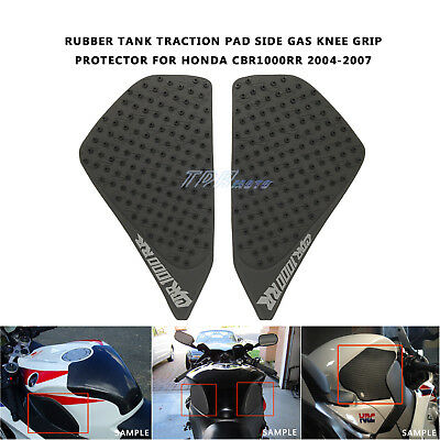 Rubber Tank Traction Pad Side Gas Knee Grip Protector for CBR1000RR 04/05/06/07