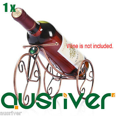 Premium Original Shape Metal Wine Rack One Bottle Holder Grift Stainless Iron