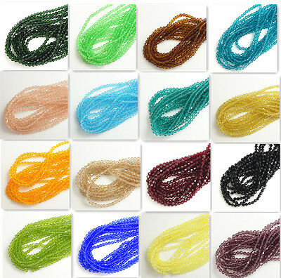 Wholesale 1000pcs #5301 Bicone Faceted Crystal Glass Loose Spacer bead 4mm