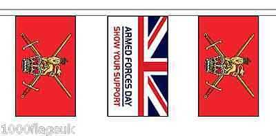 Armed Forces Day & British Army Flag Polyester Bunting - 20m with 56 Flags