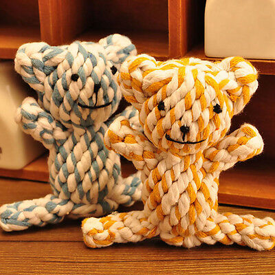 Hi Dog Tough Strong Chew Knot Teddy Toy Pet Puppy Teeth Healthy Bear Cotton Rope