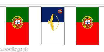 Portugal Azores & Portugal Polyester Flag Bunting - 5m with 14 Flags