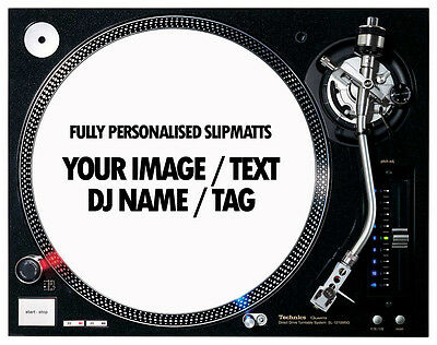 "1 Pair of Custom / Personalised 12"" Turntable Slipmats ( YOUR IMAGE / LOGO )"