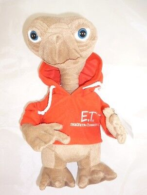 12 Inch ' ET ' The Extra Terrestrial Soft Plush Toy With Red Hoodie (K81)