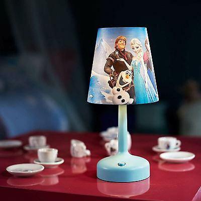 Disney Frozen Portable Table Lamp Bedroom Light Blue Olaf Elsa Anna Free P+P