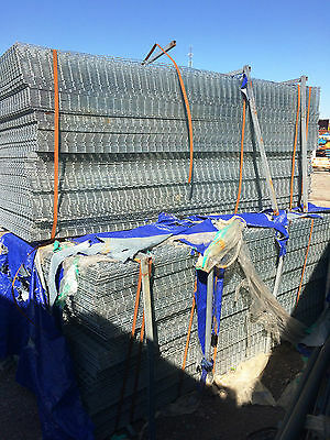 Lot of 240 2x2 Galvanized Wire Mesh Sheets(#323)