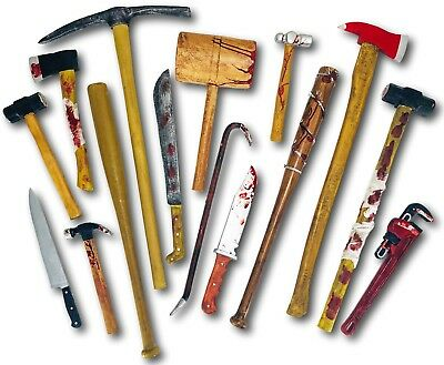 Realistic Foam Latex Bloody Weapons Tools Halloween Horror Movie Large Props