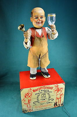 Original Sonneberg Winegrower Dolls Automata, Shop Window Display Automaton 1910
