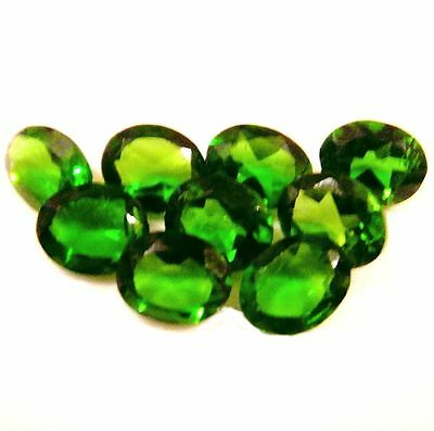 NATURAL SPARKLING AAA GREEN CHROME DIOPSIDE GEMSTONES (4.1 x 3 mm) OVAL SHAPE