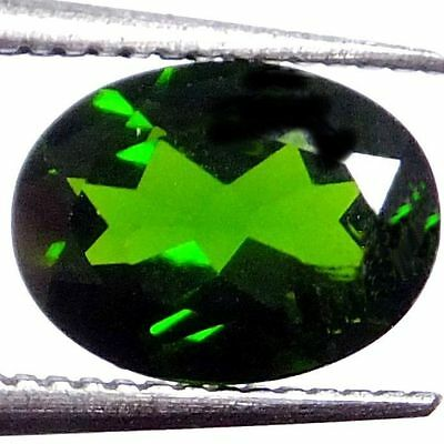 NATURAL EXCEPTIONAL GREEN CHROME DIOSIDE GEMSTONES  (8.2 x 6.3 mm) OVAL CUT