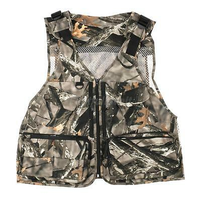 Multi Pocket Zip Hunting Fishing Shooting Fly Utility Waistcoat Jacket Vest