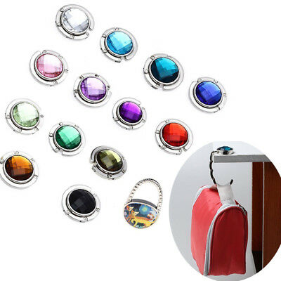 Korean Lady Crystal Folding Bag Portable Purse Table Handbag Hook Hanger Holder