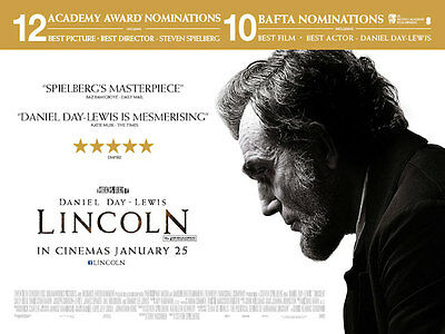 Lincoln with Daniel Day - Lewis Original Film Filmposter Quad 76x102cm