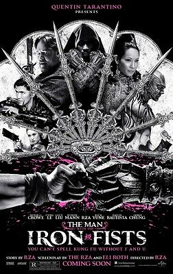 THE MAN WITH THE IRON FISTS ORIGINAL ZWEISEITIG KINOFILM PLAKAT 69x102cm