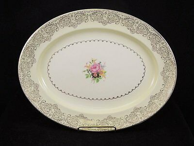 Vintage 1952 Paden City Pottery PCP48 China Dinnerware Platter Plate
