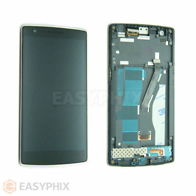LCD Display Digitizer Touch Screen Glass Assembly with Frame for Oneplus One 1+