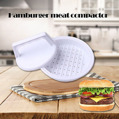 2016 Plastic Burger Press Hamburger Meat Beef Grill Cooking Maker Kitchen Mold