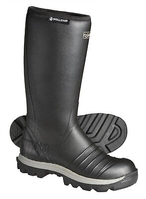 Skellerup Quatro Insulated Welly Black Wellington Boot Lined Wellies Sizes 6-14