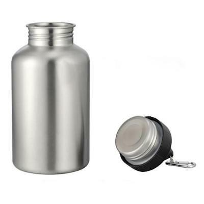 2L Large Portable Outdoor Travel Stainless Steel Cycling Sport Water Bottle