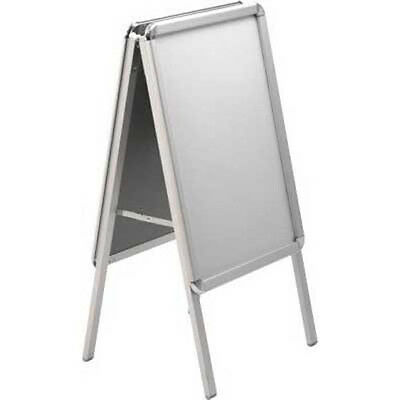 ALUMINIUM A2 A-BOARD PAVEMENT SIGN POSTER Snap Frame NEW DISPLAY STAND ADVERTISE