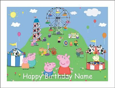 PEPPA PIG A4 (25.5cm x 19cm) EDIBLE ICING IMAGE CAKE TOPPER
