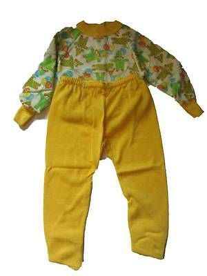 Childrens vintage PJ's sleep suit with feet baby grow clowns age 2 1960's NWT's