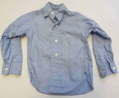 childrens vintage shirt blue cotton 70's boys baby Retro Rockabilly