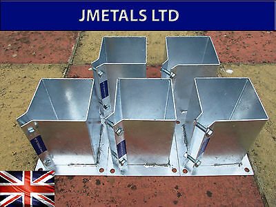 Galvanised Bolt Down Fence Post Support 50Mm 75Mm 90Mm 100Mm 120Mm 150Mm