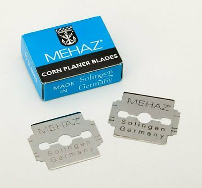 Box/10 - Mehaz Corn Callus Cutter Pedicure Blades - Solingen Germany