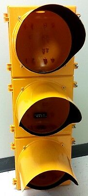"""Traffic Signal 3 Section 12"""" Head Poly Yellow"""