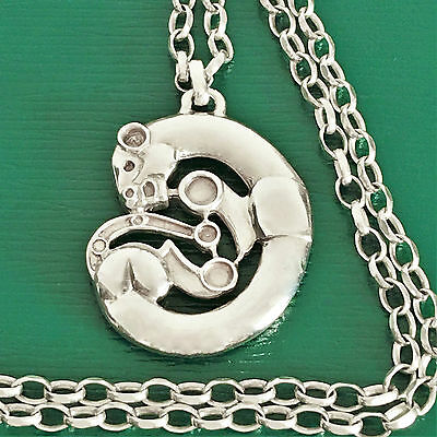 Vintage STERLING SILVER Panther ARTHUS BERTRAND Unusual Fine HEAVY Necklace 41g