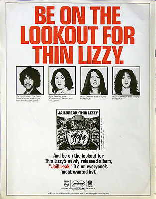 Thin Lizzy Phil Lynott Vintage Press, Promo & Media Clippings Collection