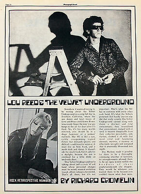Velvet Underground Vintage & Rare Press, Media Clippings Collection