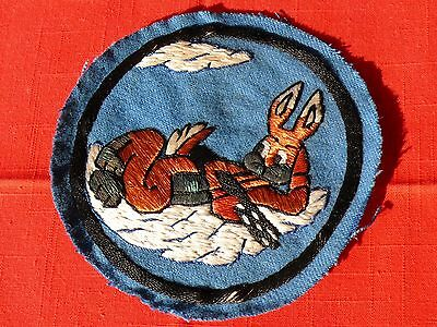 WW2 US AAF 324th P-40 Fighter Pilot KIA Italy1944 BUGS BUNNY BOMBER JACKET PATCH