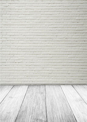 Brick Wall Photo Backdrops Baby Wooden FLoor Photography Background Vinyl 5x7ft