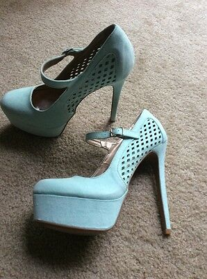 Teal / Mint High Heels GORGEOUS Size 8