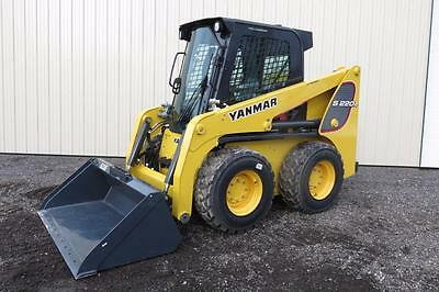 2016 Yanmar S220R Skid Steer Loader, Cab Heat/air, Pilot Controls, Rental Unit!!