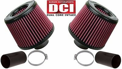 Burger Tuning BMS N54 Dual Cone Performance Intake Red Filters for BMW