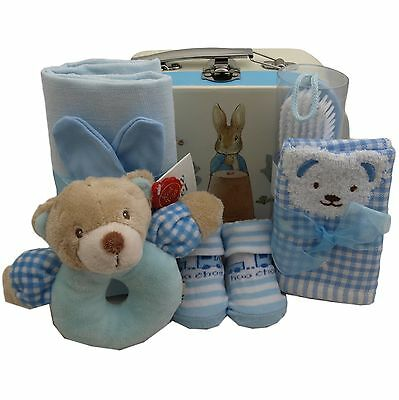 Baby gift basket boy packed cute Peter Rabbit case boy baby shower nappy cake