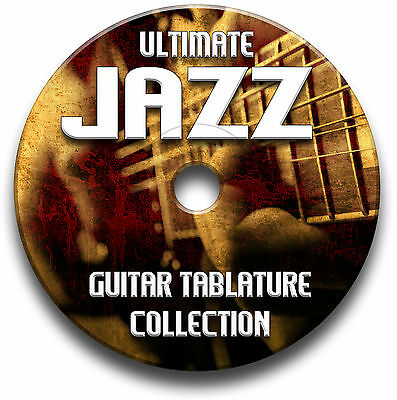 140 x JAZZ GUITAR TABS COLLECTION TABLATURE SONG BOOK SOFTWARE LIBRARY CD