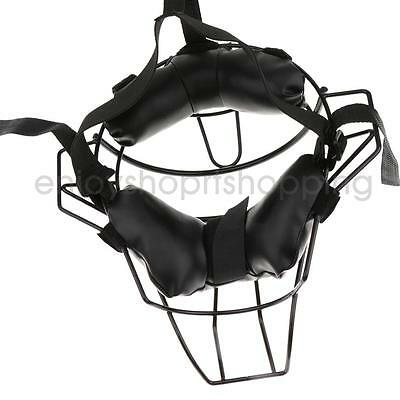Baseball Softball Adult Catchers Protective Shock Absorbing Black Face Mask