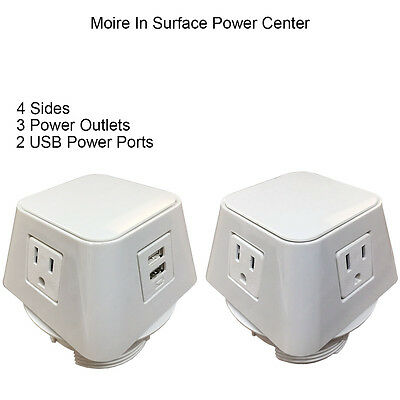The Cube Power & USB Charging Table Top Center - Electriduct