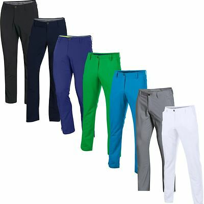Under Armour UA AW16 Match Play Taper Pants Hommes Golf Flat Front Trousers