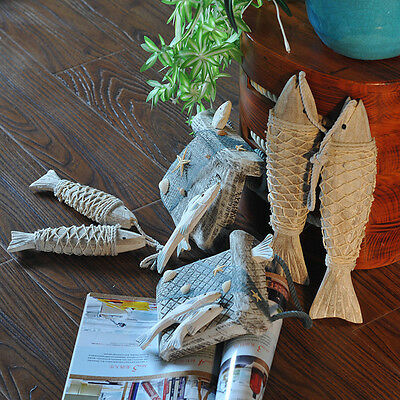 Mediterranean Wooden Hanging Fish Village Decorated Handicrafts Wall Decor