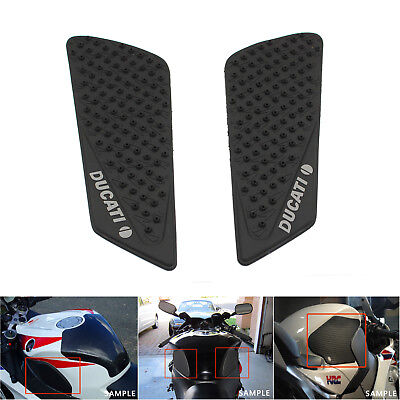 Rubber Tank Traction Pad Side Gas Knee Grip Protector For Ducati 848 1098