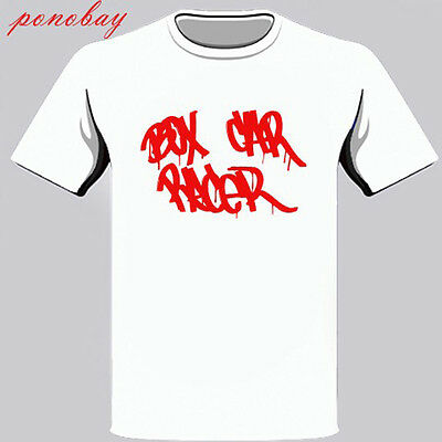 New Box Car Racer American Rock Band Men's White T-Shirt Size S-3XL