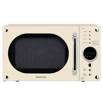 Daewoo KOR8A9RC Cream 23L 800W Touch Control 5 Programmes Retro Microwave Oven