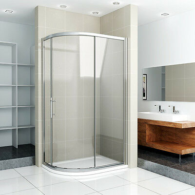 New Offset Quadrant Shower Enclosure Stone Tray Single Door Glass Corner Cubicle