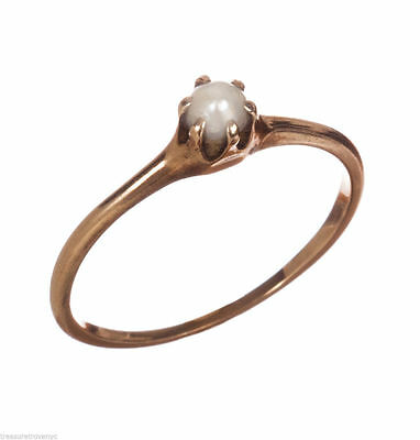 Victorian 14 kt Yellow Gold Sea Pearl Ring